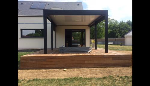 Aménagement d''espaces détente sur terrasse - (72)